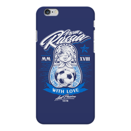 """Чехол для iPhone 6 Plus глянцевый """"Футбол"""" - футбол, спорт, матрёшка"""