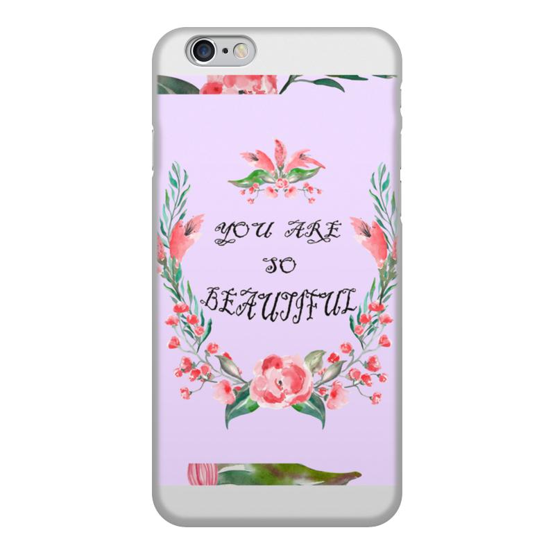 Чехол для iPhone 6, объёмная печать Printio Цветочный венок заготовка из пенопласта сердце венок 25 24см толщина 2см