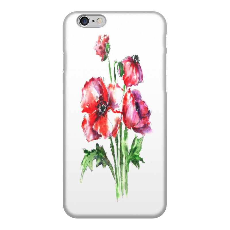Чехол для iPhone 6, объёмная печать Printio Цветы/весн sahar cases чехол ярко розовые цветы и черно белая полоска iphone 4 4s