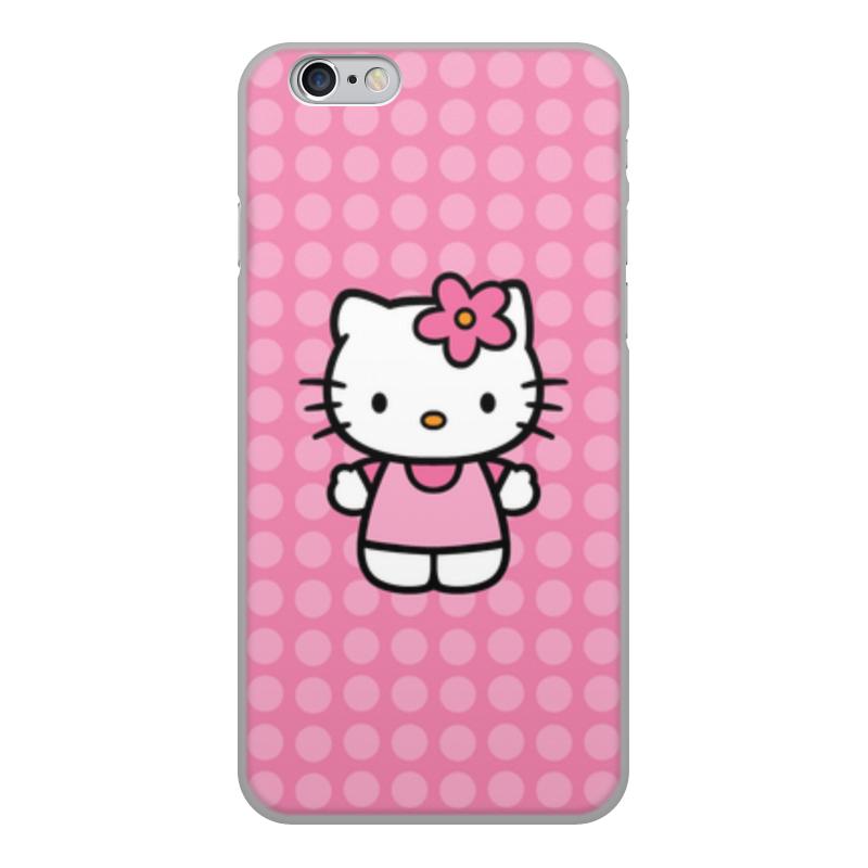 Чехол для iPhone 6, объёмная печать Printio Kitty в горошек леггинсы printio kitty в горошек