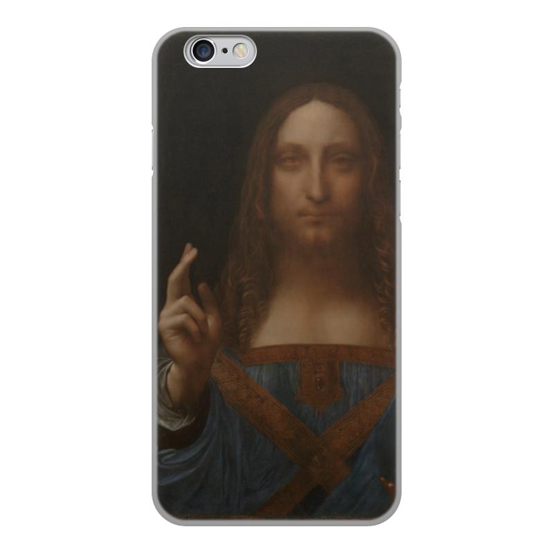 Чехол для iPhone 6, объёмная печать Printio Спаситель мира леонардо да винчи чехол для iphone 6 глянцевый printio дама в голубом картина сомова
