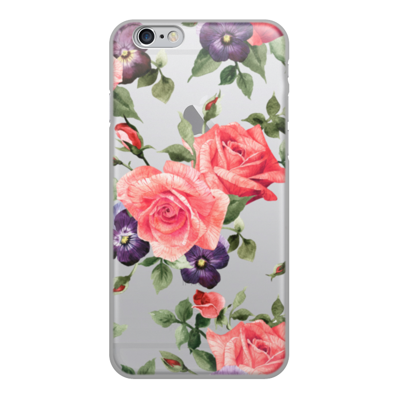 Чехол для iPhone 6, объёмная печать Printio Цветы printio чехол для iphone 6 глянцевый