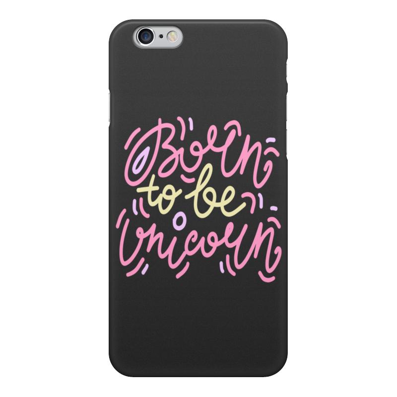 Чехол для iPhone 6, объёмная печать Printio Born to be unicorn чехол для iphone 6 объёмная печать printio born to be unicorn