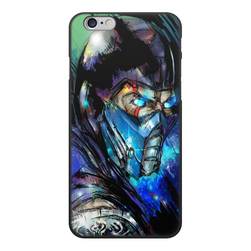 Чехол для iPhone 6, объёмная печать Printio Mortal kombat x (sub-zero)