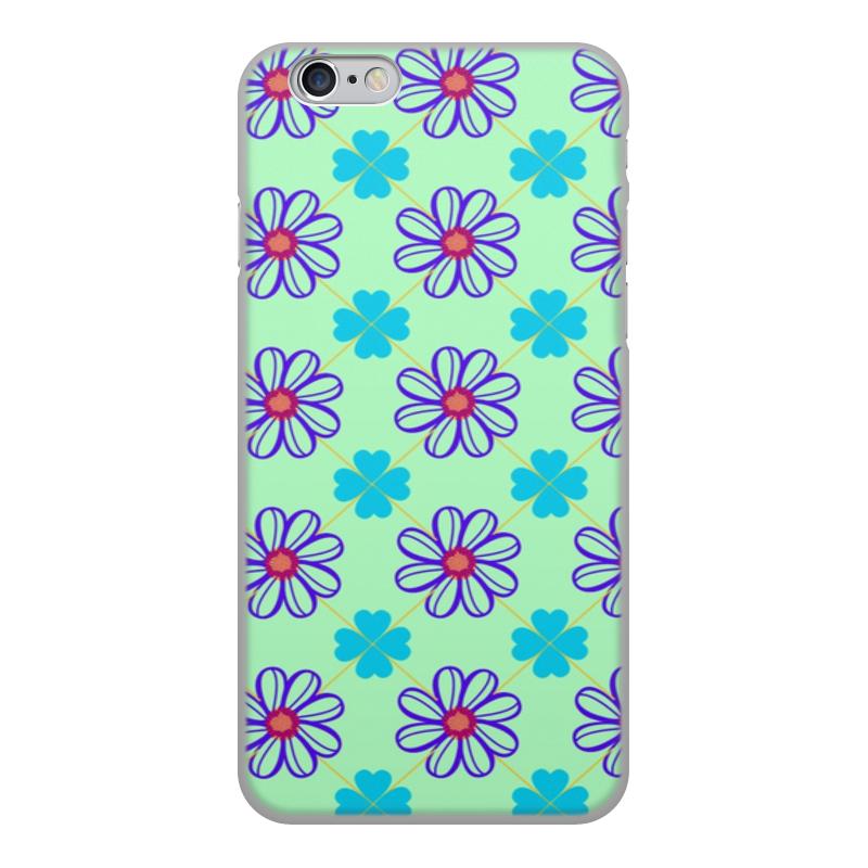 Чехол для iPhone 6, объёмная печать Printio Цветы цена
