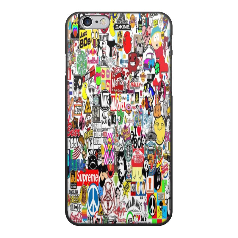 Чехол для iPhone 6, объёмная печать Printio Стикерпак ремень с карманом под телефон на руку oem iphone 6 4 7 pounch yfpj 54047b