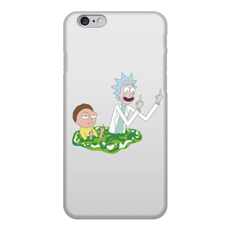 Чехол для iPhone 6, объёмная печать Printio Рик и морти (rick and morty)