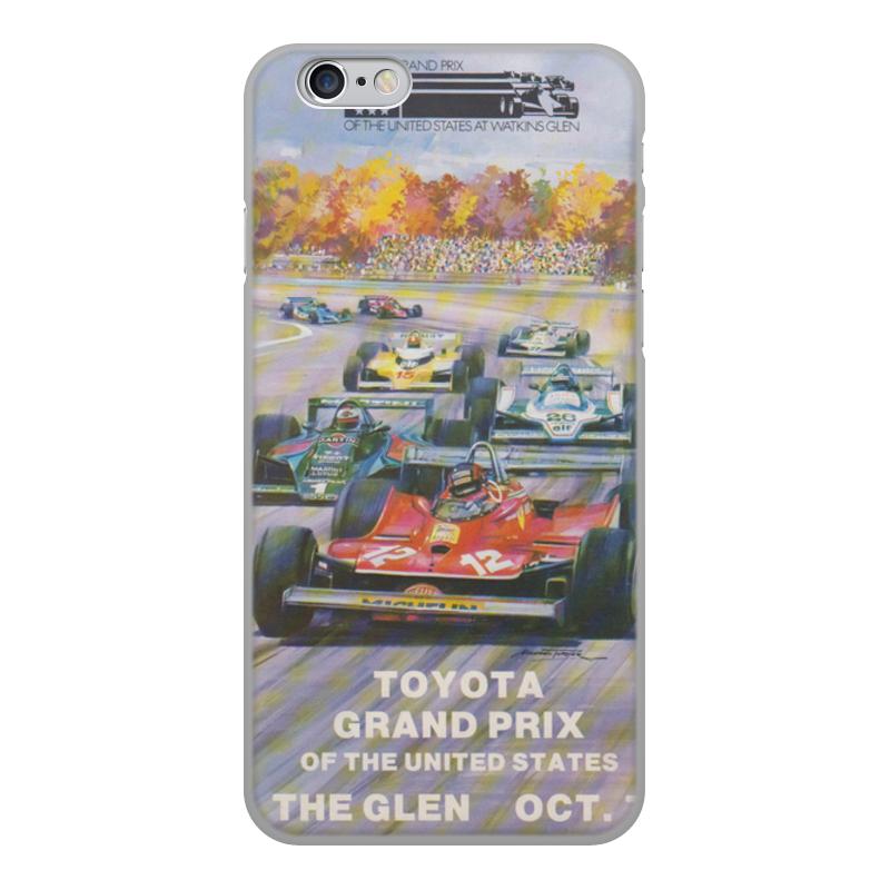 Чехол для iPhone 6, объёмная печать Printio Гран-при сша 1971 21321 терка 24см контейнер 6 гран силикон мв 907014