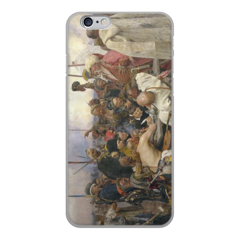 лучшая цена Чехол для iPhone 6, объёмная печать Printio Запорожцы (картина репина)