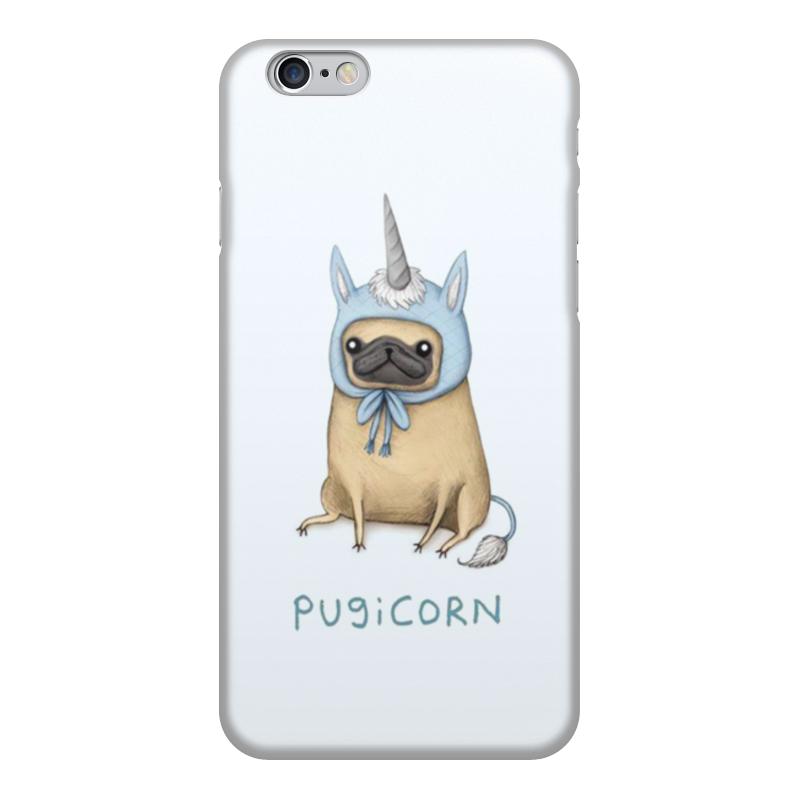 Чехол для iPhone 6, объёмная печать Printio Мопс единорог чехол накладка для iphone 6 ozaki o coat 0 3 jelly oc555tr пластик прозрачный