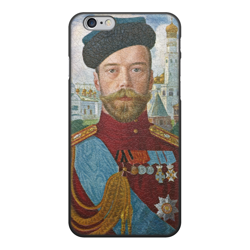 лучшая цена Чехол для iPhone 6, объёмная печать Printio Царь николай ii (борис кустодиев)