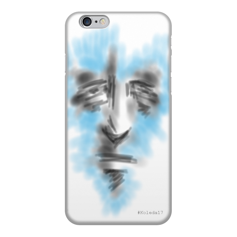 Чехол для iPhone 6, объёмная печать Printio Art face gumai silky case for iphone 6 6s black