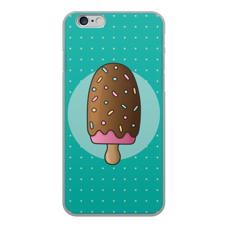 лучшая цена Чехол для iPhone 6, объёмная печать Printio Мороженое