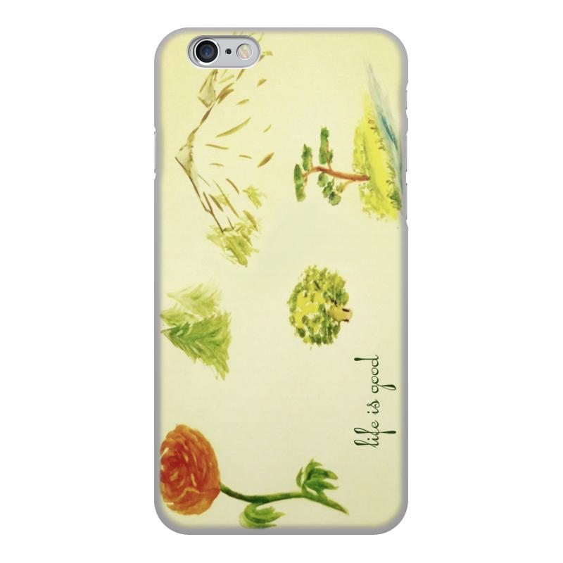Чехол для iPhone 6, объёмная печать Printio Горы, сосны и цветы обложка для паспорта printio горы сосны и цветы