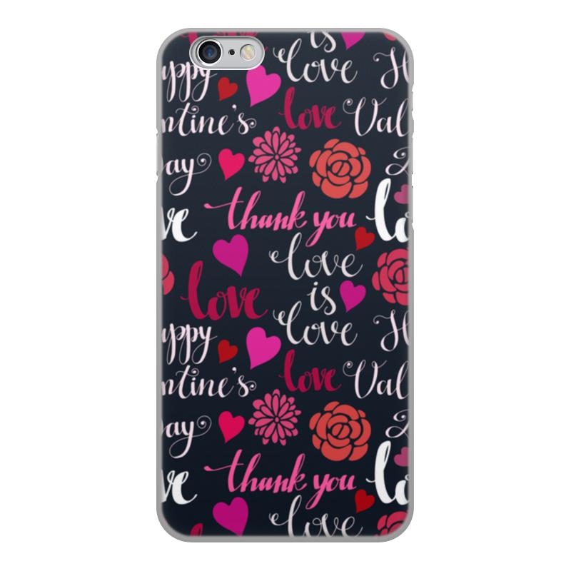 Чехол для iPhone 6, объёмная печать Printio День св. валентина чехол для iphone 5 printio чехол с мыслями о любви
