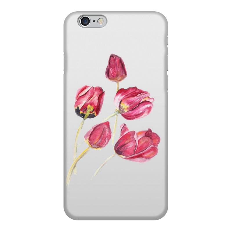 Фото - Чехол для iPhone 6, объёмная печать Printio Тюльпаны чехол для iphone 5 глянцевый с полной запечаткой printio deadpool vs punisher