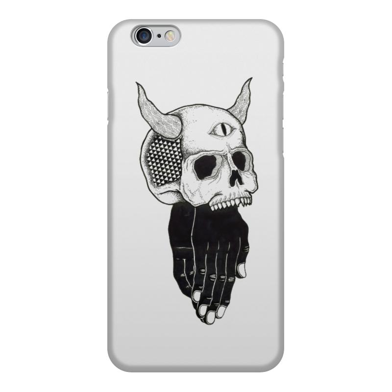 Чехол для iPhone 6, объёмная печать Printio Череп сумка printio привидение каспер