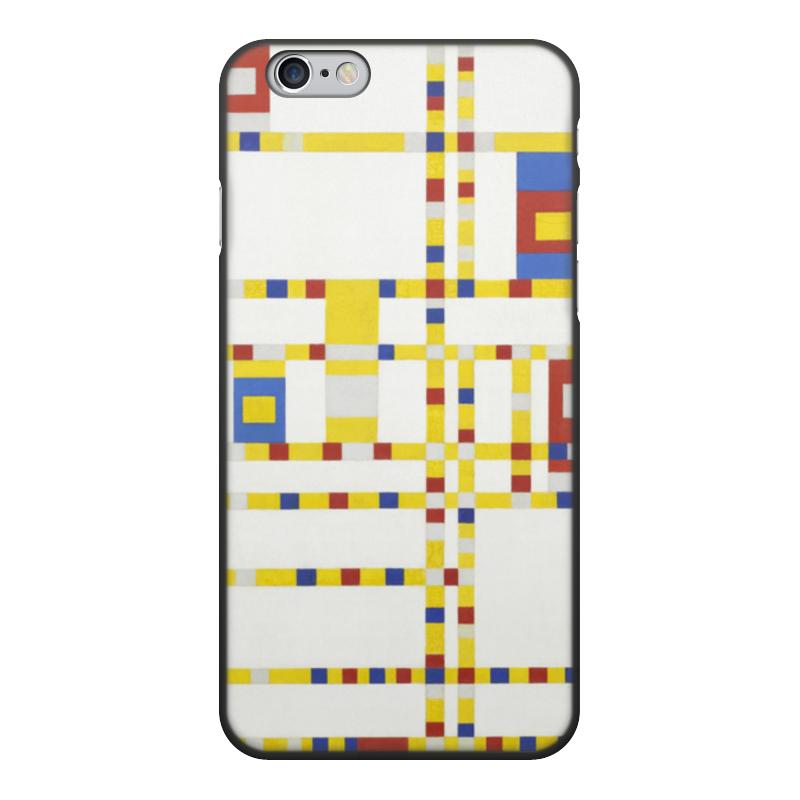 Чехол для iPhone 6, объёмная печать Printio Бродвей буги-вуги (питер мондриан) чехол для samsung galaxy s5 printio бродвей буги вуги питер мондриан