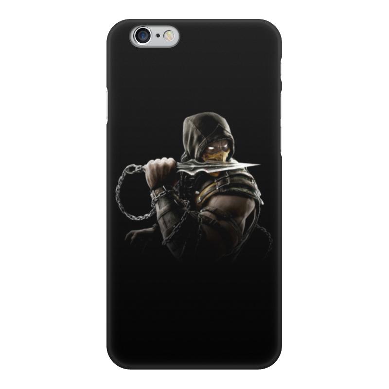 Фото - Чехол для iPhone 6, объёмная печать Printio Mortal kombat (scorpion) чехол для iphone 5 глянцевый с полной запечаткой printio deadpool vs punisher
