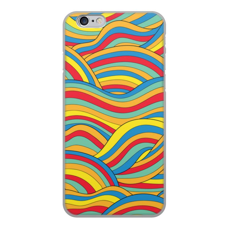 Чехол для iPhone 6, объёмная печать Printio Цветные волны