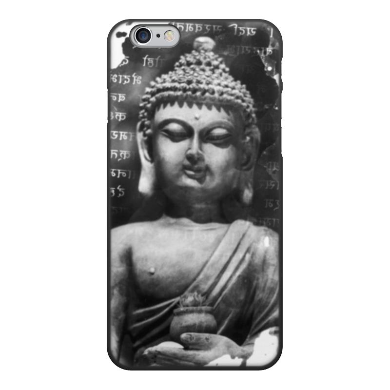 лучшая цена Чехол для iPhone 6, объёмная печать Printio Будда (письмена)