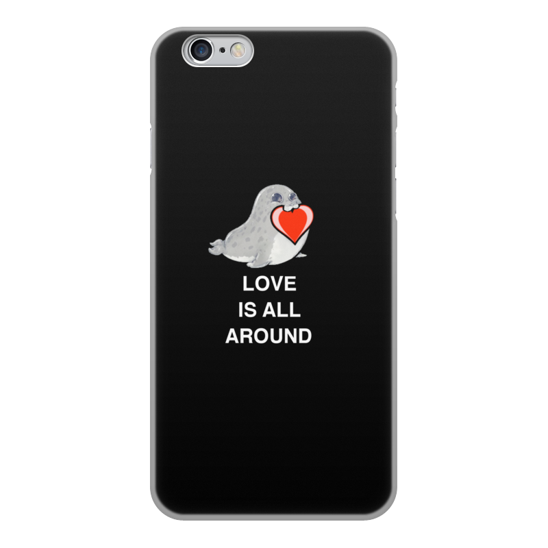 Чехол для iPhone 6, объёмная печать Printio Love. тюлень. любовь. love mei water dirt shockproof protective metal case for iphone 6