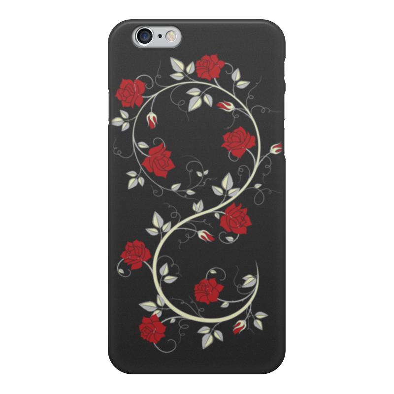 Фото - Чехол для iPhone 6, объёмная печать Printio Красные розы чехол для iphone x объёмная печать printio лепестки розы