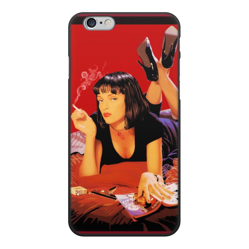 лучшая цена Чехол для iPhone 6, объёмная печать Printio Pulp fiction (ума турман)