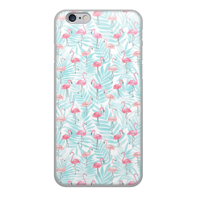 Чехол для iPhone 6, объёмная печать Printio Фламинго цена и фото