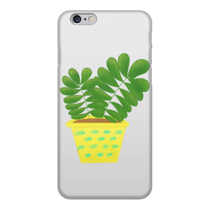 Чехол для iPhone 6, объёмная печать Printio Кактус в жёлтом горшке кактусы в горшке