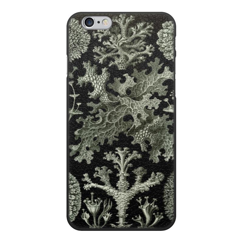 Чехол для iPhone 6, объёмная печать Printio Лишайники (lichenes, ernst haeckel) чехол для samsung galaxy s7 edge силиконовый printio лишайники lichenes ernst haeckel