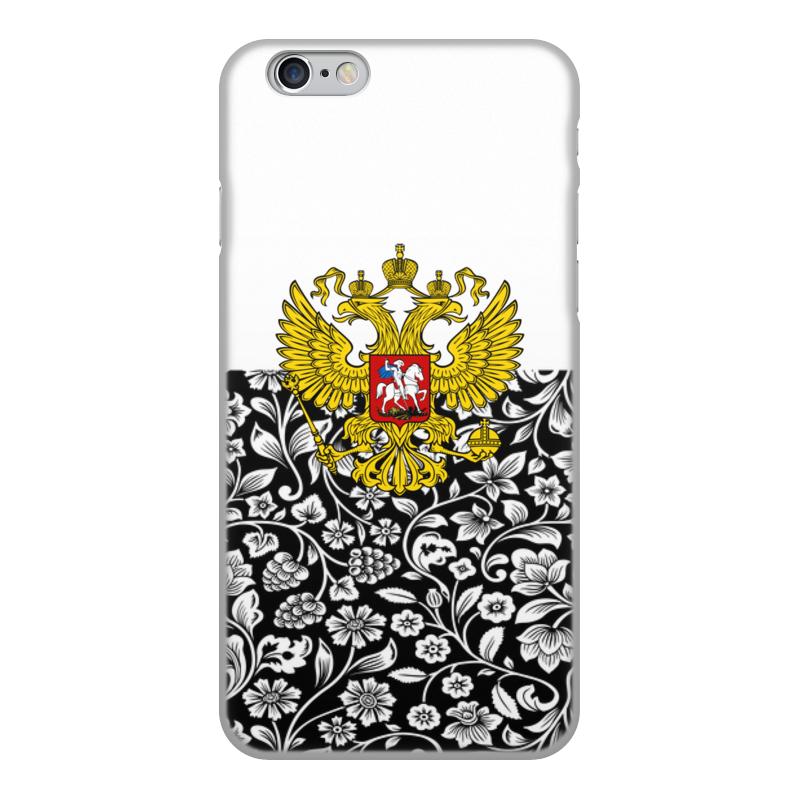 Чехол для iPhone 6, объёмная печать Printio Цветы и герб цена