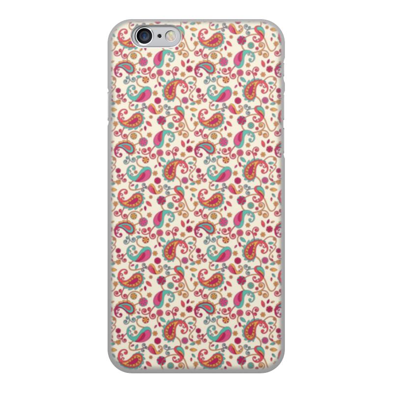 Чехол для iPhone 6, объёмная печать Printio Пейсли (яркий) чехол для iphone 6 глянцевый printio crossfit