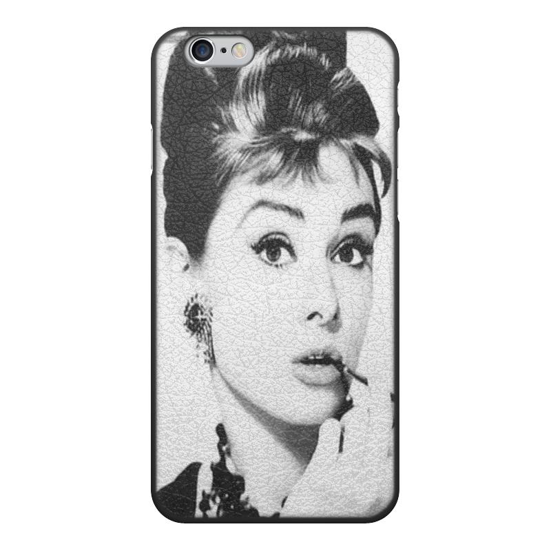 Чехол для iPhone 6, объёмная печать Printio Одри хепберн женская сумка планшет с принтом черная коллекция elole design одри хепберн нат кожа