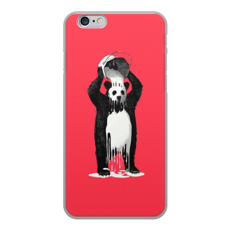 лучшая цена Чехол для iPhone 6, объёмная печать Printio Панда в краске