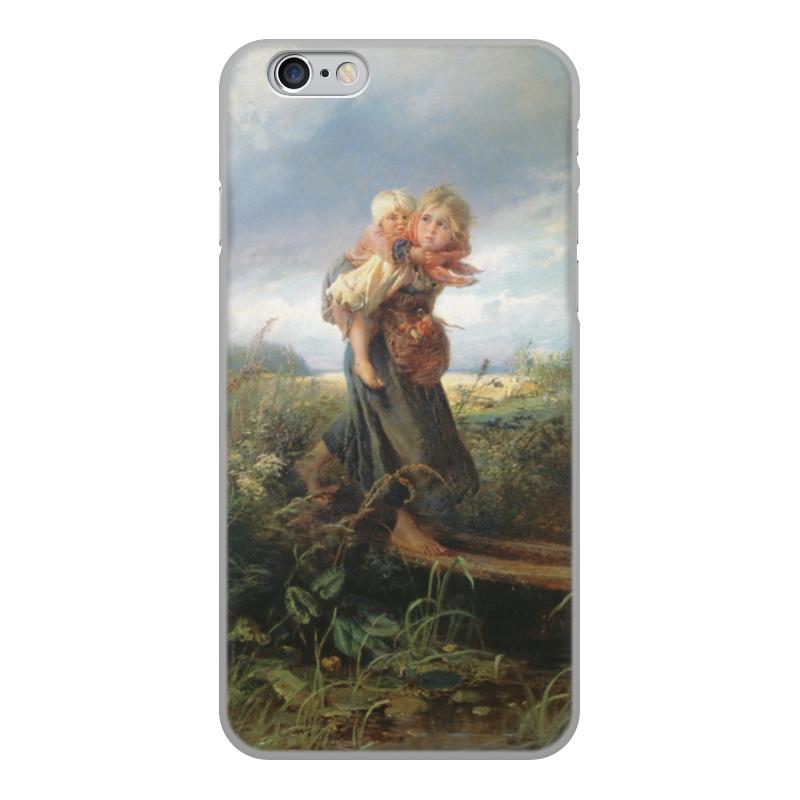 Чехол для iPhone 6, объёмная печать Printio Дети, бегущие от грозы (константин маковский)