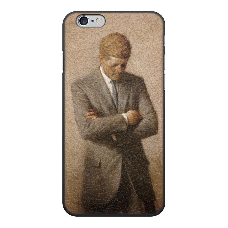 Чехол для iPhone 6, объёмная печать Printio Портрет президента джона ф. кеннеди.