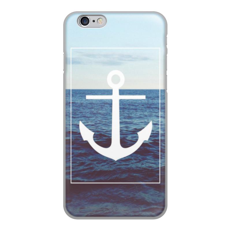 Чехол для iPhone 6, объёмная печать Printio Якорь стоимость