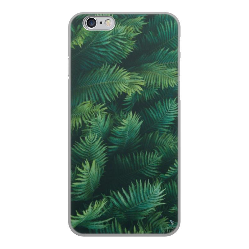 Чехол для iPhone 6, объёмная печать Printio Листья папоротника цена