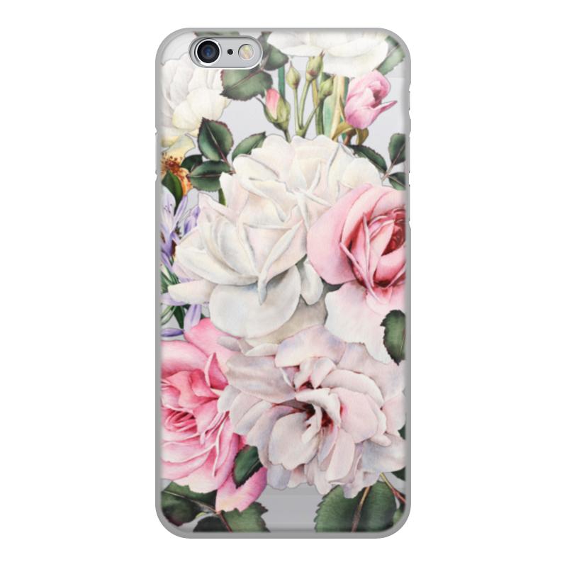 Чехол для iPhone 6, объёмная печать Printio Цветы чехол накладка для iphone 6 ozaki o coat 0 3 jelly oc555tr пластик прозрачный