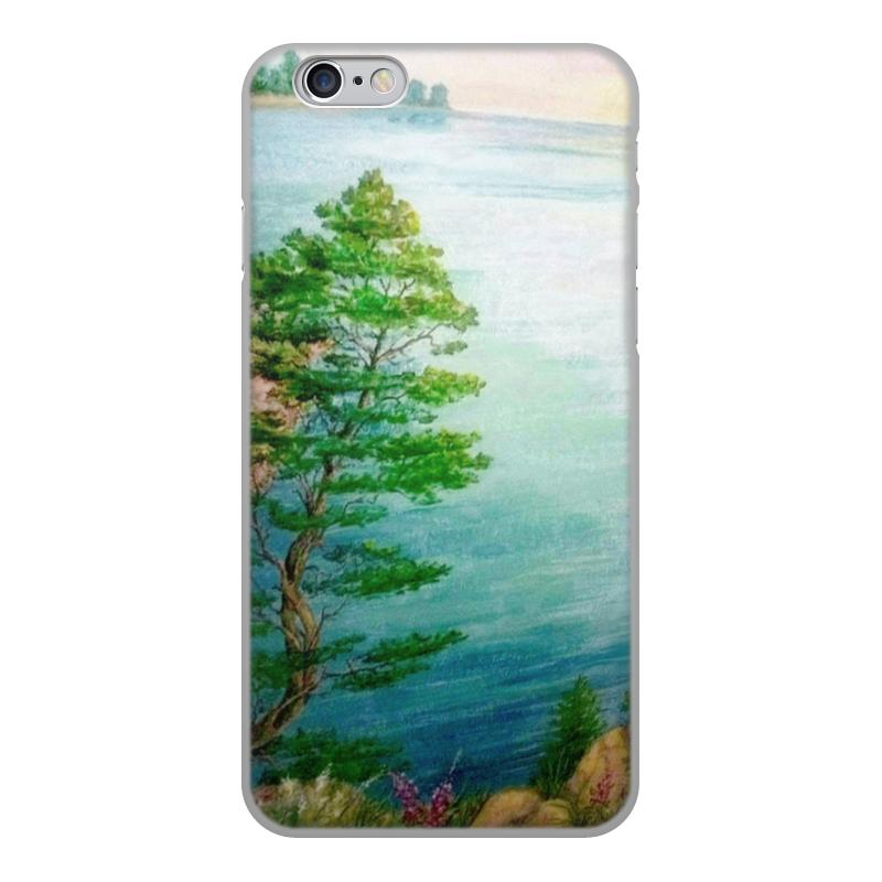 лучшая цена Чехол для iPhone 6, объёмная печать Printio Песчаный берег