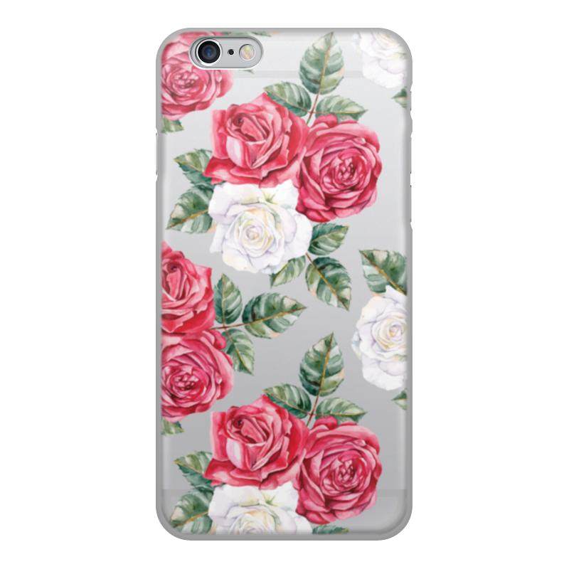 Фото - Чехол для iPhone 6, объёмная печать Printio Цветы чехол для iphone 5 глянцевый с полной запечаткой printio deadpool vs punisher
