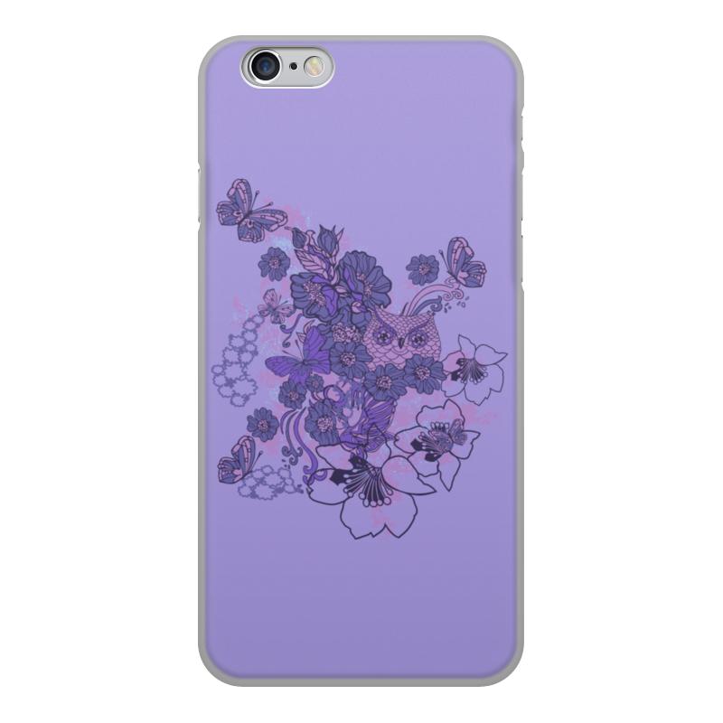Чехол для iPhone 6, объёмная печать Printio Сова в цветах чехол для iphone 5 printio сова в цветах