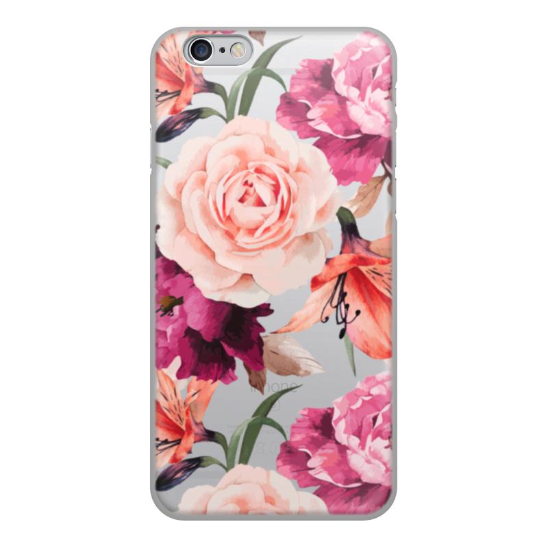 Чехол для iPhone 6, объёмная печать Printio Цветы тотем цветы шаблон мягкий тонкий тпу резиновая крышка силиконовый гель чехол для lg d337