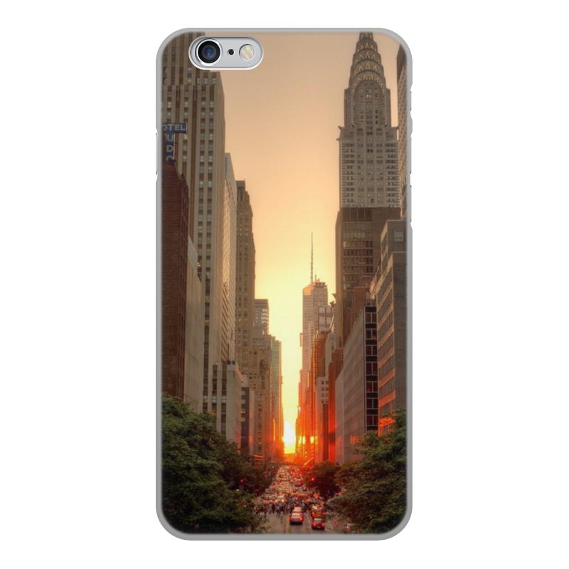 Чехол для iPhone 6, объёмная печать Printio Вечерний нью йорк