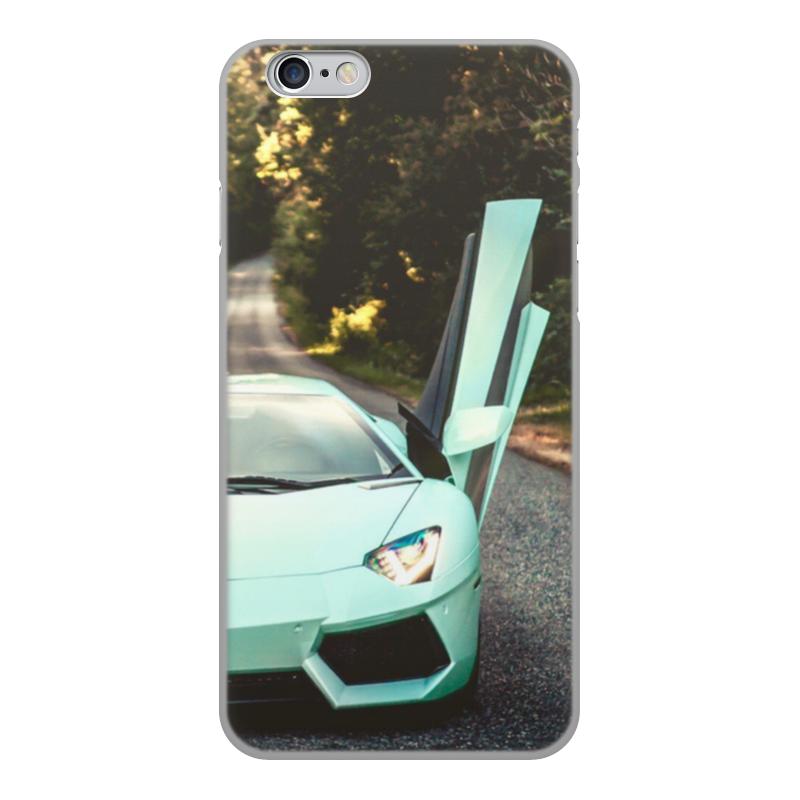 Чехол для iPhone 6, объёмная печать Printio Lamborghini чехол для iphone interstep для iphone x soft t metal adv красный