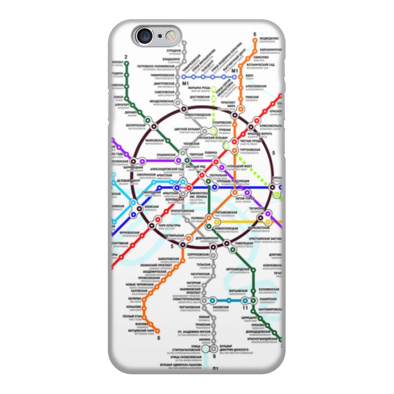 Чехол для iPhone 6, объёмная печать Printio Схема метро москвы чехол для iphone 7 глянцевый printio схема метро москвы