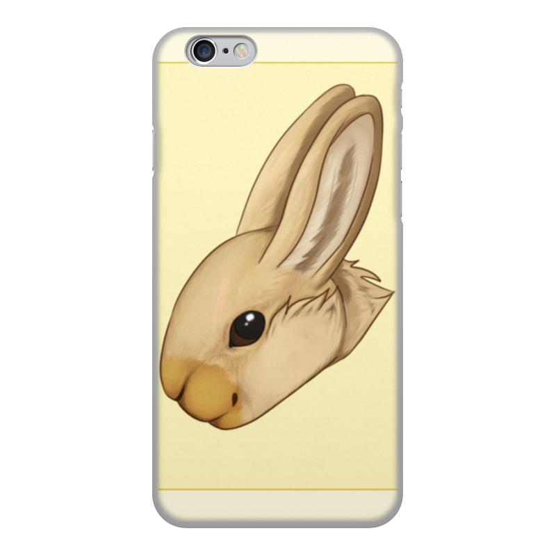 Чехол для iPhone 6, объёмная печать Printio Кролик gumai silky case for iphone 6 6s black
