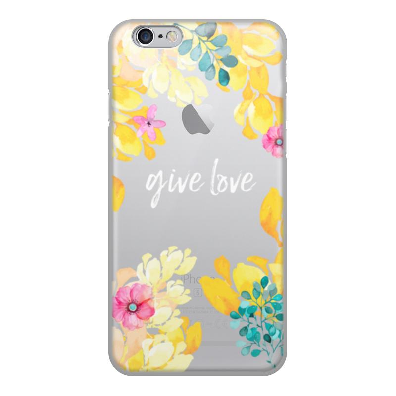 Чехол для iPhone 6, объёмная печать Printio Цветы чехол для iphone 6 объёмная печать printio полевые цветы
