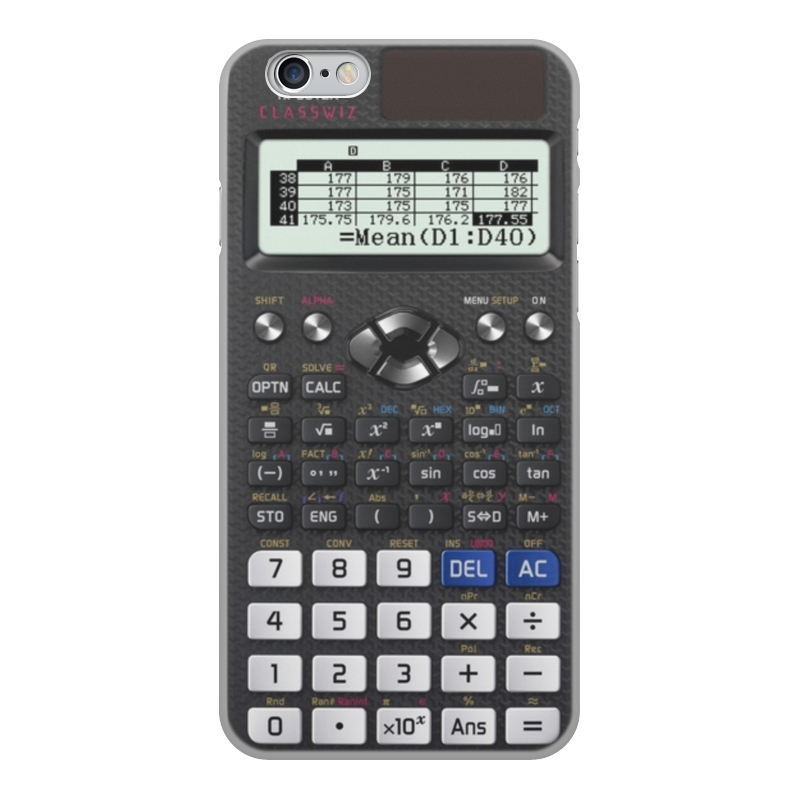 Чехол для iPhone 6, объёмная печать Printio Калькулятор инженерный